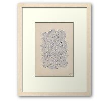 0404 - Harmonie in Blue Framed Print