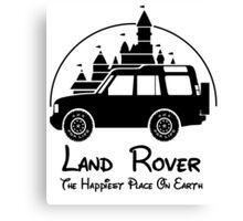 Disney Castle - Land Rover (Parody) Canvas Print