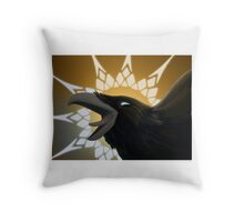 Crow King Throw Pillow