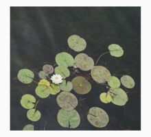 Lily Pad Cute Visitor - A Little Turtle Emerging Among The Waterlilies  Baby Tee