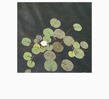 Lily Pad Cute Visitor - A Little Turtle Emerging Among The Waterlilies  Unisex T-Shirt