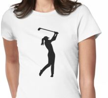 Golf woman girl Womens Fitted T-Shirt