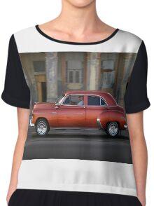 Old American car in La Habana, Cuba Chiffon Top