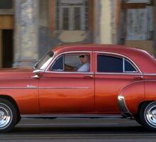 Old American car in La Habana, Cuba Sticker