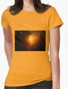 Sunrise in Sheboygan, Wisconsin Womens Fitted T-Shirt