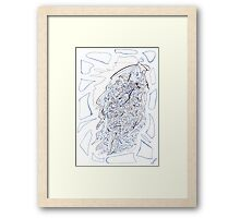 0409 - Blue Samba Dancing Fun Framed Print