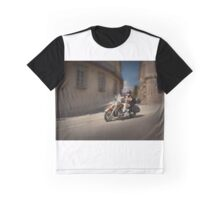 Harley Davidson rider in Malaga Graphic T-Shirt