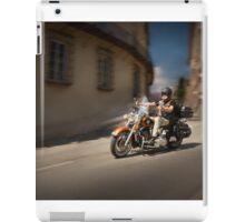 Harley Davidson rider in Malaga iPad Case/Skin