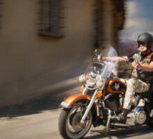 Harley Davidson rider in Malaga Sticker