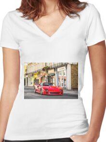Ferrari F40 Women's Fitted V-Neck T-Shirt