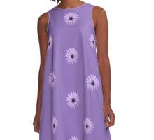 Mauve Flower Tee A-Line Dress