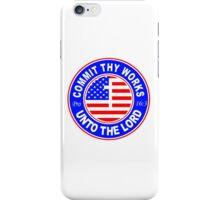 PROVERBS 16:3 - USA  iPhone Case/Skin