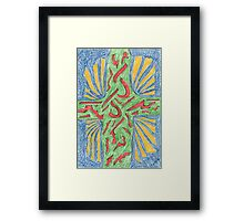 0412 - A Cross in Different Colors Framed Print