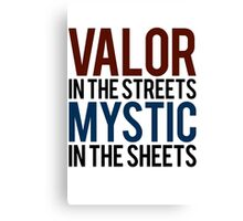 Valor in the Streets, Mythic in the Sheets (Pokemon GO) Canvas Print