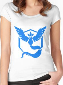 pokemon GO team mystic Women's Fitted Scoop T-Shirt