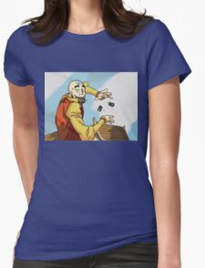 Avatar Aang - the wall of Avatars Womens Fitted T-Shirt
