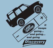 Energiser Battery - Land Rover (Parody) Kids Tee