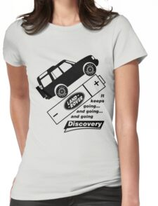 Energiser Battery - Land Rover (Parody) Womens Fitted T-Shirt