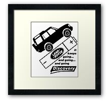 Energiser Battery - Land Rover (Parody) Framed Print