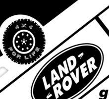 Energiser Battery - Land Rover (Parody) Sticker