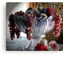L'elegance du Fruits Faux Canvas Print