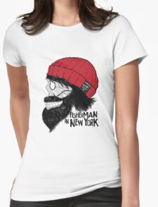 Fisherman in New York Womens Fitted T-Shirt
