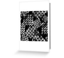 Houndstooth pattern with watercolor effect Greeting Card