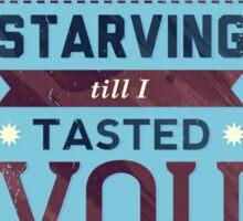 Starving Sticker