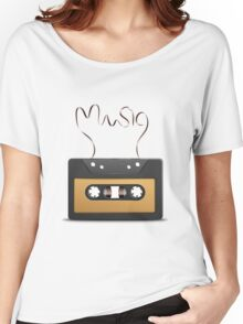 Audio tape retro music Women's Relaxed Fit T-Shirt