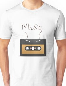 Audio tape retro music Unisex T-Shirt