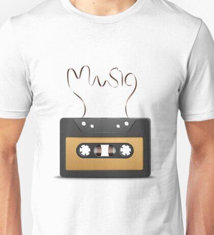 Audio tape retro music Unisex T-Shirt