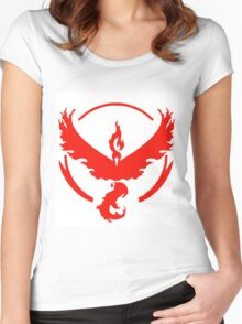 pokemon GO team valor Women's Fitted Scoop T-Shirt