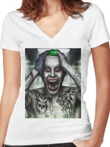 JOKER Women's Fitted V-Neck T-Shirt