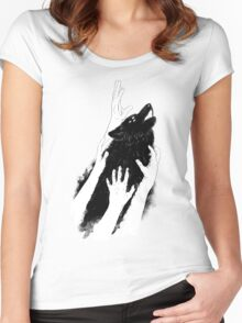Wolves of Paris Women's Fitted Scoop T-Shirt