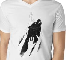 Wolves of Paris Mens V-Neck T-Shirt