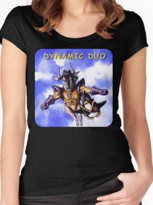 GNU & TUX Dynamic Duo Women's Fitted Scoop T-Shirt
