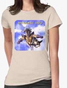 GNU & TUX Dynamic Duo Womens Fitted T-Shirt