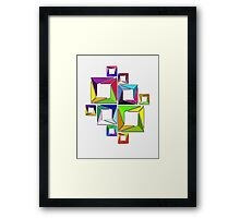 More Like Mondrian  [Contemporary Abstract Art] Framed Print