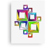 More Like Mondrian  [Contemporary Abstract Art] Canvas Print