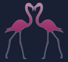 Flamingo In Love Kids Clothes