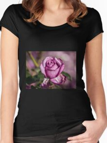Oh My Rose, your Beauty really never fades....... Women's Fitted Scoop T-Shirt