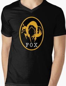 -METAL GEAR SOLID- FOX Mens V-Neck T-Shirt