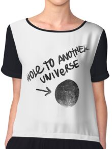 Hole to another Universe vintage Chiffon Top