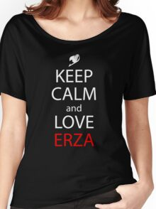 Keep Calm And Love Erza Anime Manga Shirt Women's Relaxed Fit T-Shirt