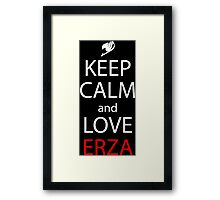 Keep Calm And Love Erza Anime Manga Shirt Framed Print