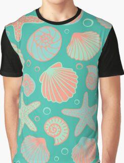 Seashell pattern Graphic T-Shirt