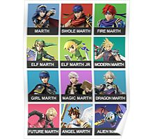 Marth Tier List Poster