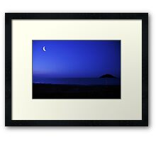 The Moon and the Lighthouse  Framed Print