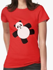 Funny Fat Panda Womens Fitted T-Shirt