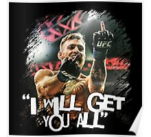 McGregor I will get you all Poster